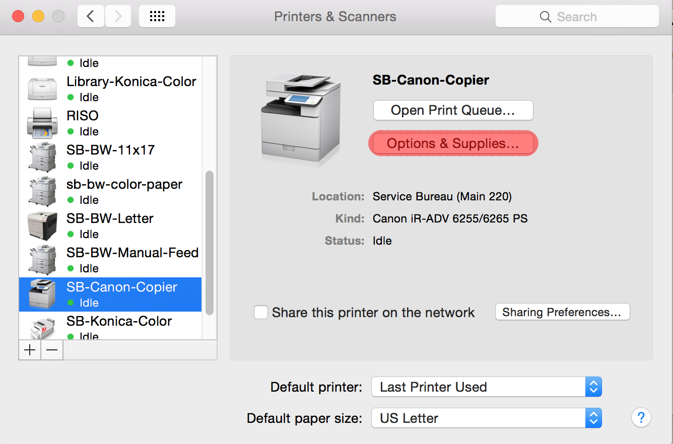 How to print documents to the SB-Canon-Copier | MCAD Intranet