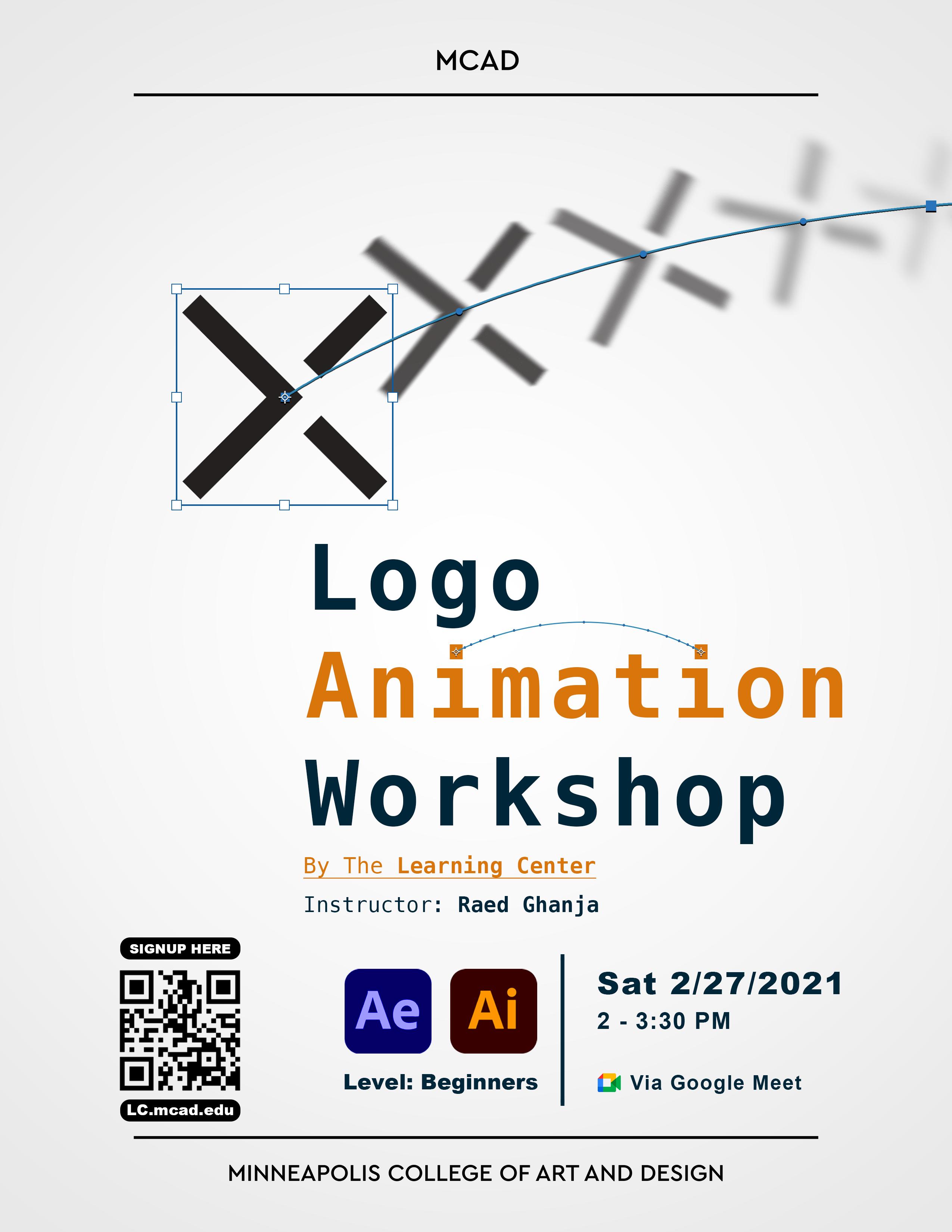 Logo Animation Workshop Flier