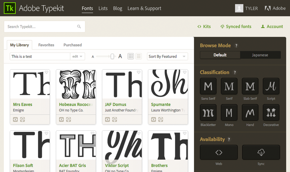Adobe Typekit at MCAD | MCAD Intranet