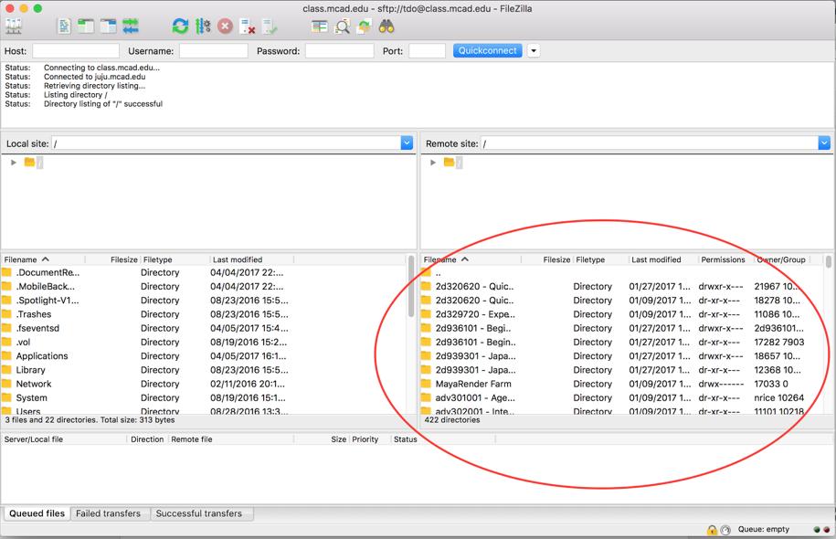FileZilla at MCAD | MCAD Intranet